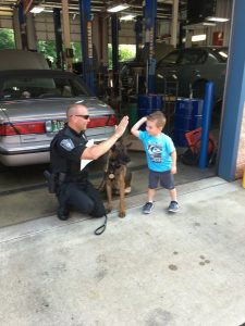 Elizabeth Auto Care Hot Dog Day 2016 Event with Canine Officer 'Eli'