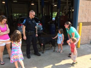 Elizabeth Auto Care Hot Dogs For Police Dogs 2015 with Canine Officer 'Ryker'