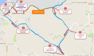 Mill Hill Detour Elizabeth Auto Care Use this detour route when coming in from Elizabeth Twp, Lincoln Borough and Forward Twp during the Lovedale Rd closure